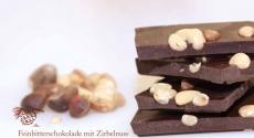 Feinbitterschokolade 61% mit Zirbelnuss 100g | Oberhöller Gourmet-Schokoladen