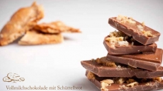 Vollmilchschokolade mit Schüttelbrot 50 g   Oberhöller Gourmet-Schokoladen