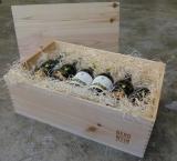 Klassische Holzkiste mit loser Deckplatte für bis zu 12 Flaschen